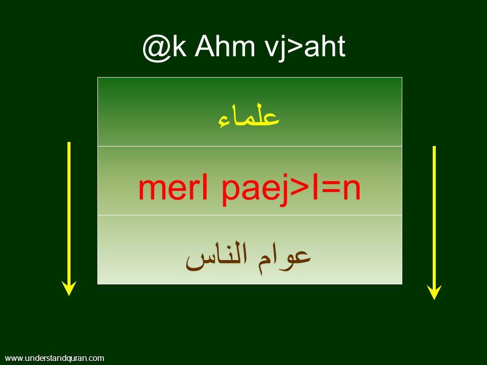 @k Ahm vj>aht www.understandquran.com علماء merI paej>I=n عوام الناس
