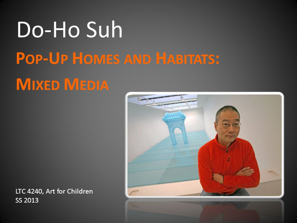 Do-Ho Suh P OP -U P H OMES AND H ABITATS : M IXED M EDIA LTC 4240, Art for Children SS 2013
