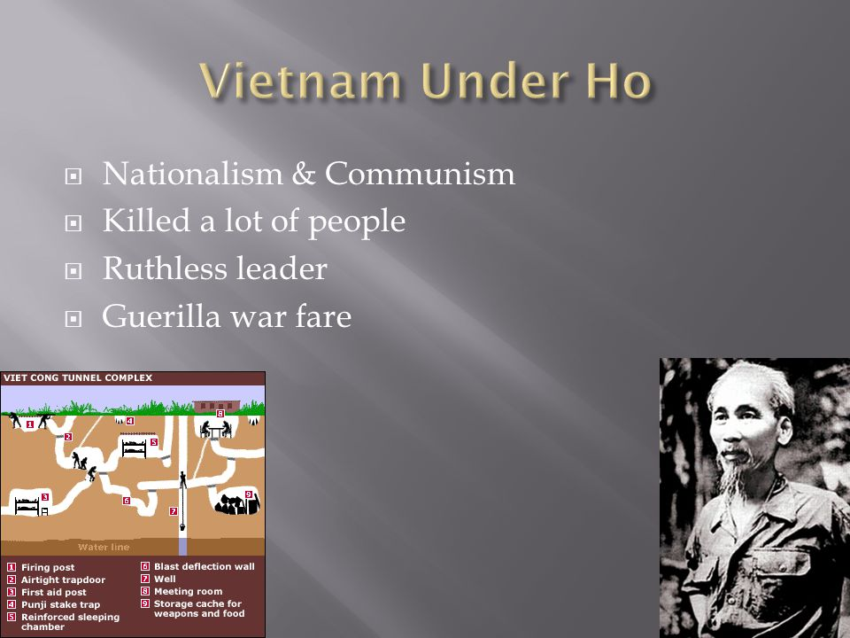  Nationalism & Communism  Killed a lot of people  Ruthless leader  Guerilla war fare