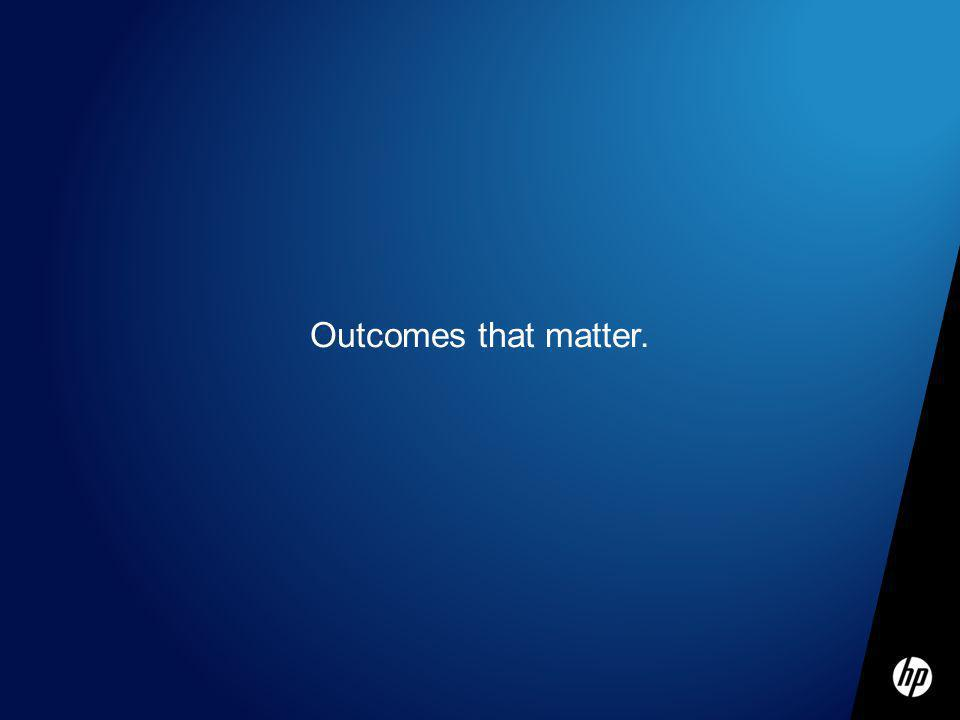Outcomes that matter.