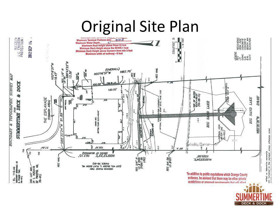 Original Site Plan