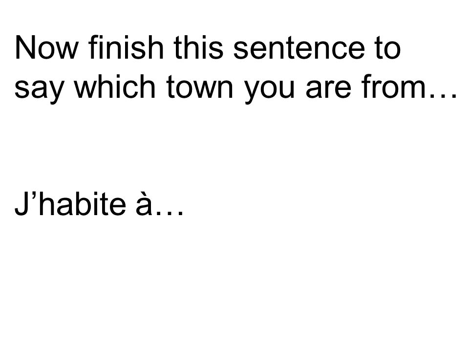 We can also join the two sentences together to say the town and the country.