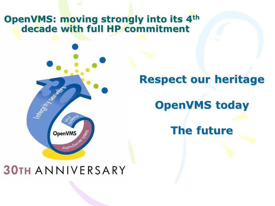 OpenVMS @30 The Ride of a Lifetime