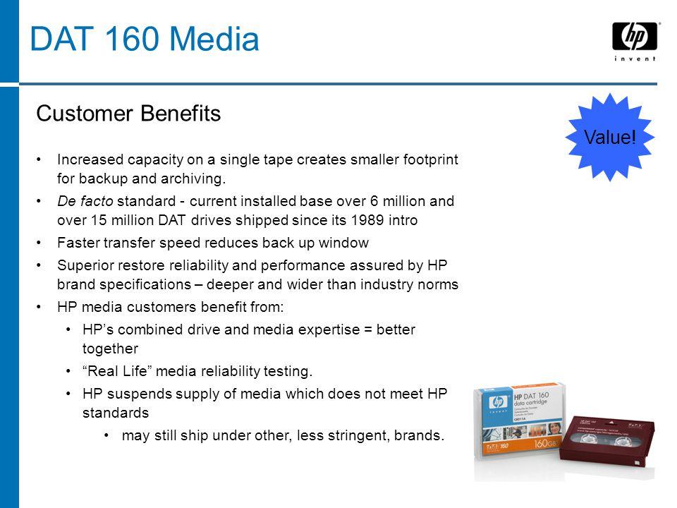 DAT 160 Media Value.