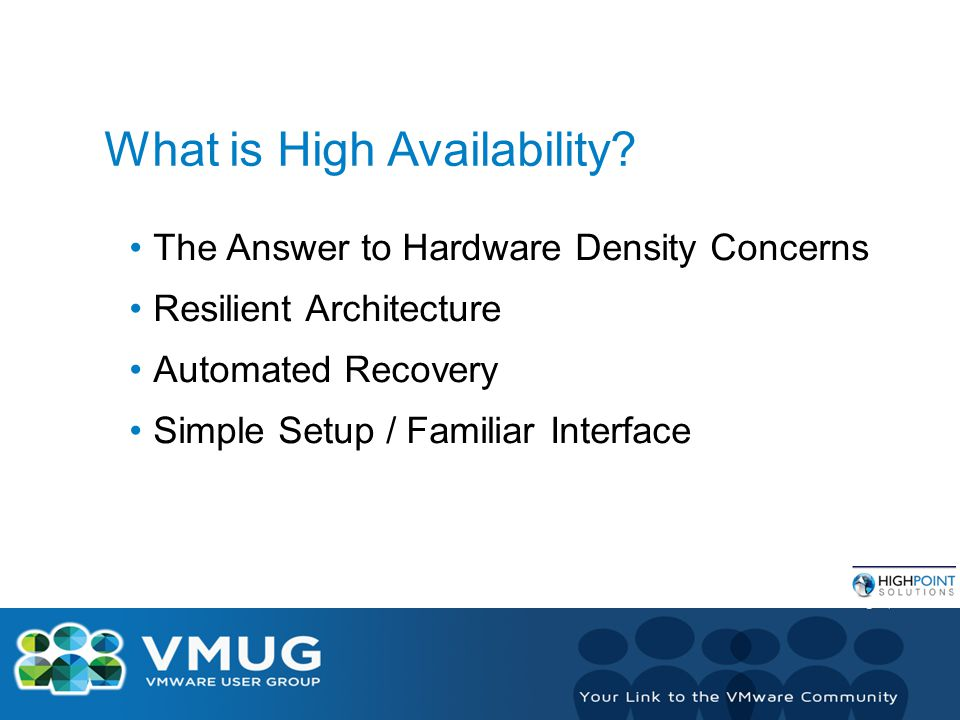 What is High Availability.