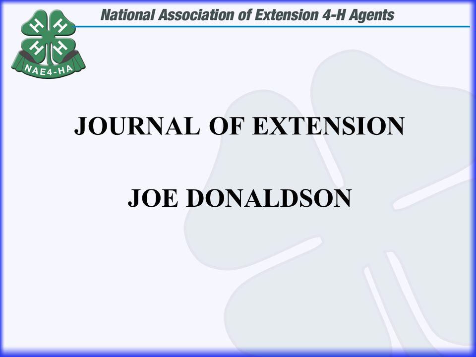JOE DONALDSON JOURNAL OF EXTENSION