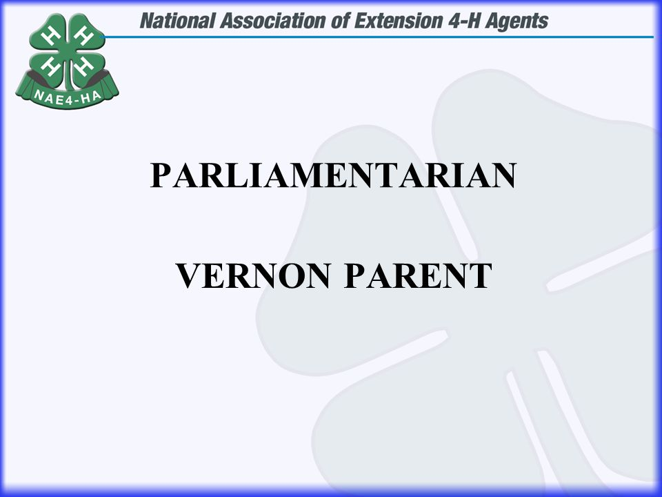 VERNON PARENT PARLIAMENTARIAN