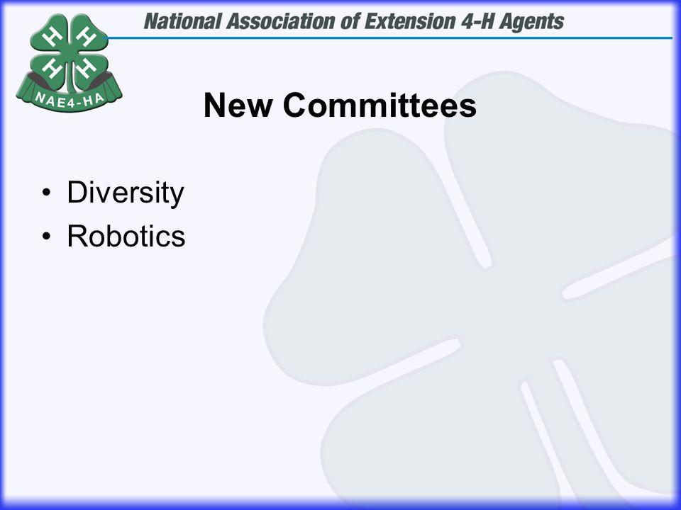 New Committees Diversity Robotics