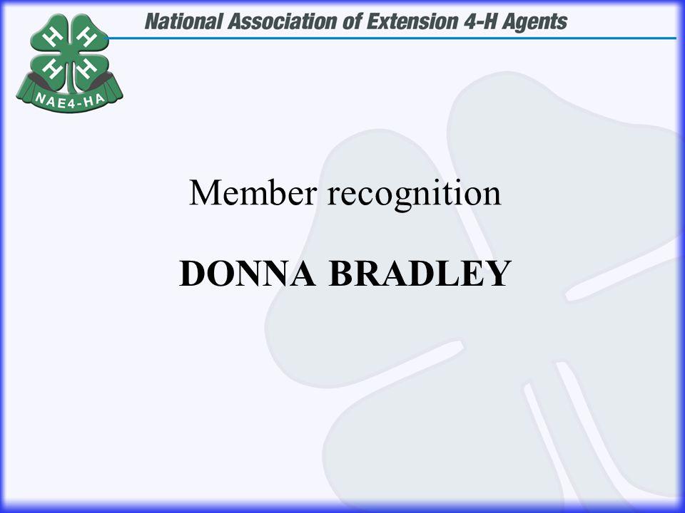 DONNA BRADLEY Member recognition