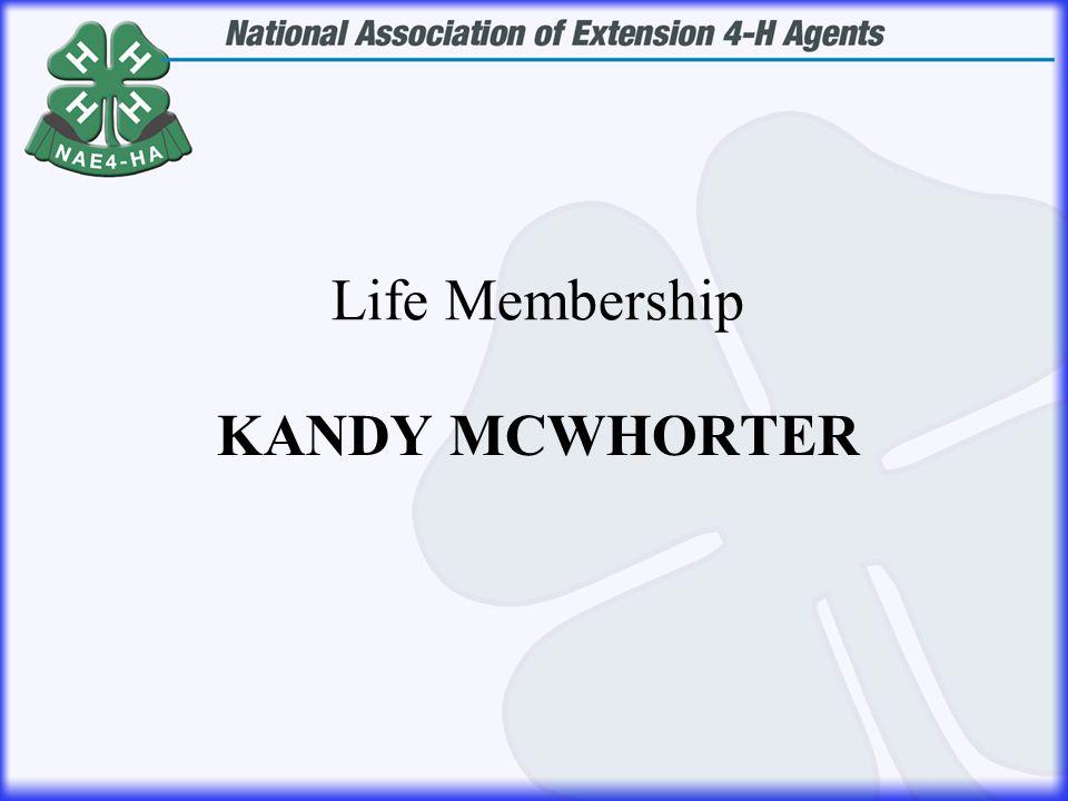 KANDY MCWHORTER Life Membership