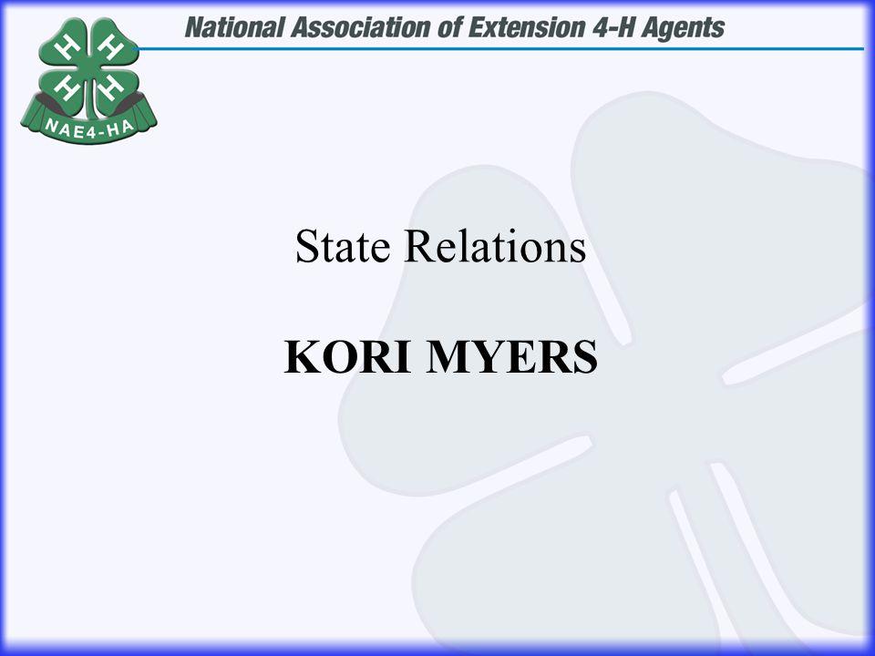 KORI MYERS State Relations