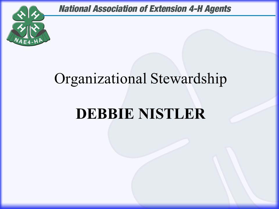 DEBBIE NISTLER Organizational Stewardship