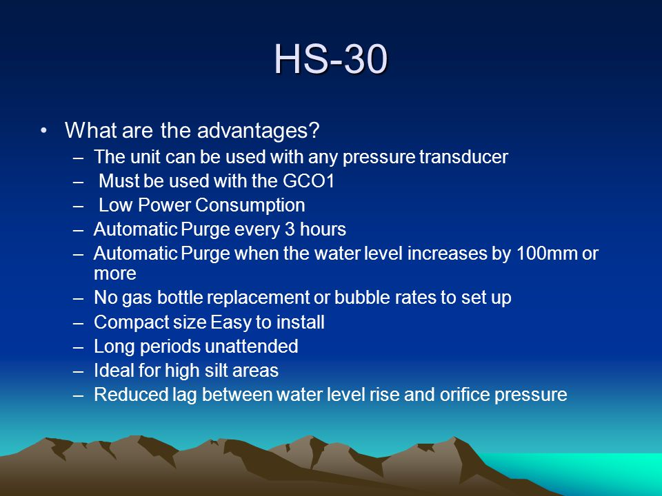 HS-30 Product Overview –The Trident Model HS-30 is designed to be used with a GCO (Gas Chamber Orifice) and replace conventional Dry Nitrogen or Compressed Air bubbler systems.