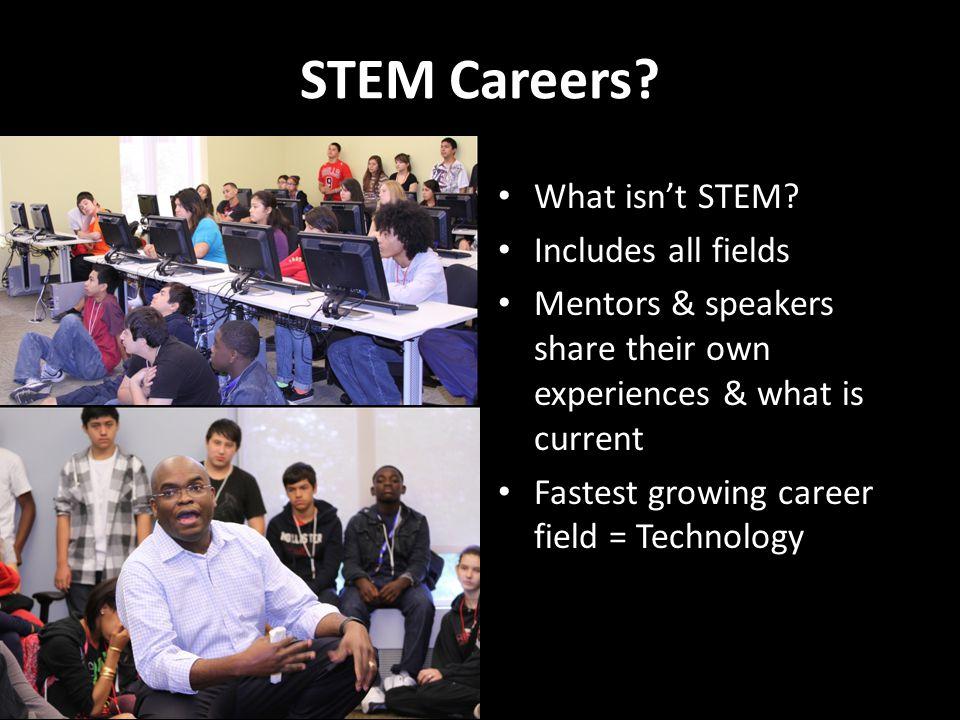 STEM Careers. What isn't STEM.