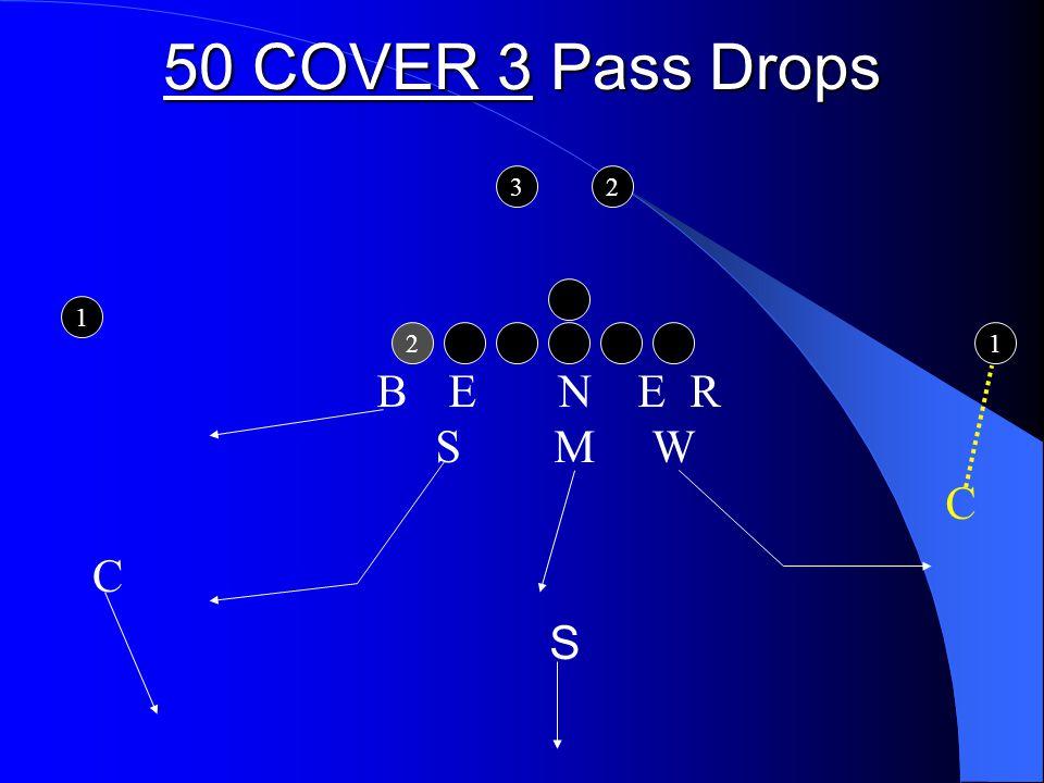 50 COVER 3 Pass Drops 2 1 1 32 B E N E R S M W C C S