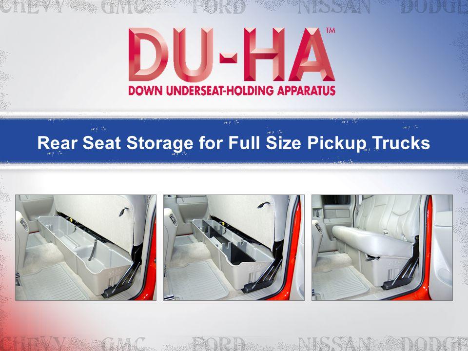 Rear Seat Storage for Full Size Pickup Trucks