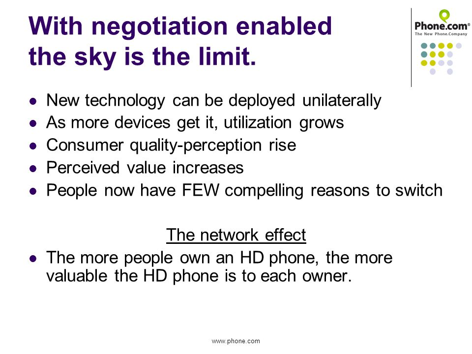 With negotiation enabled the sky is the limit.