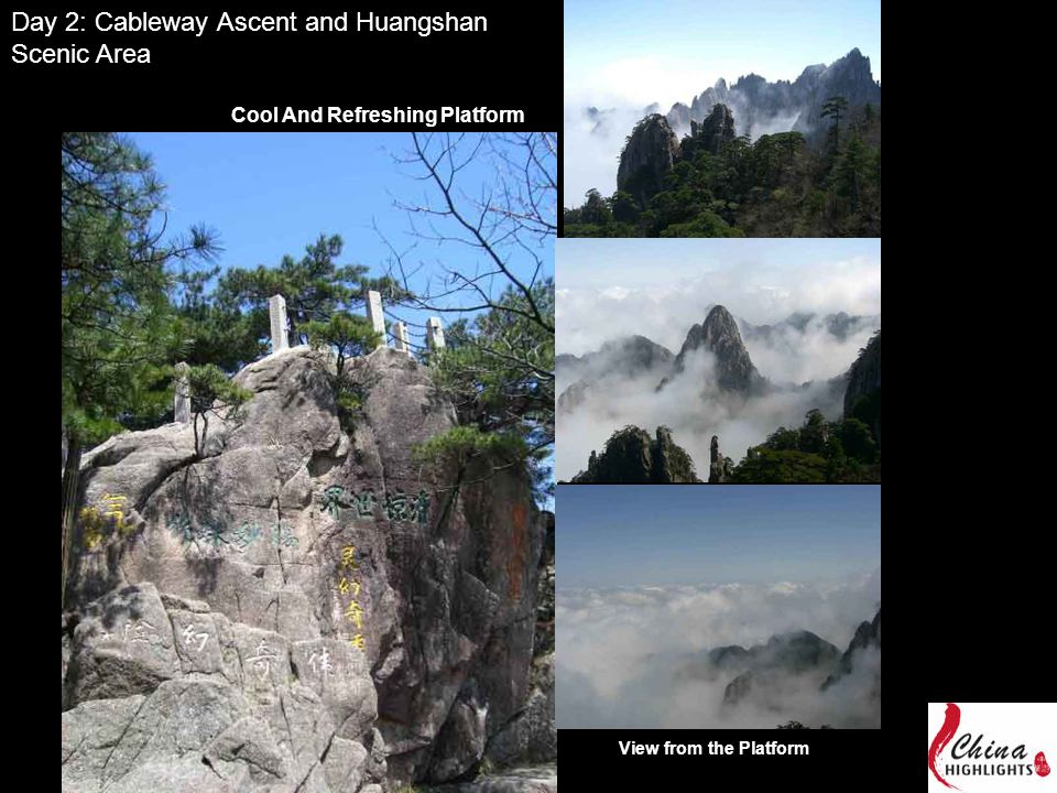 Day 2: Cableway Ascent and Huangshan Scenic Area Cool And Refreshing Platform View from the Platform