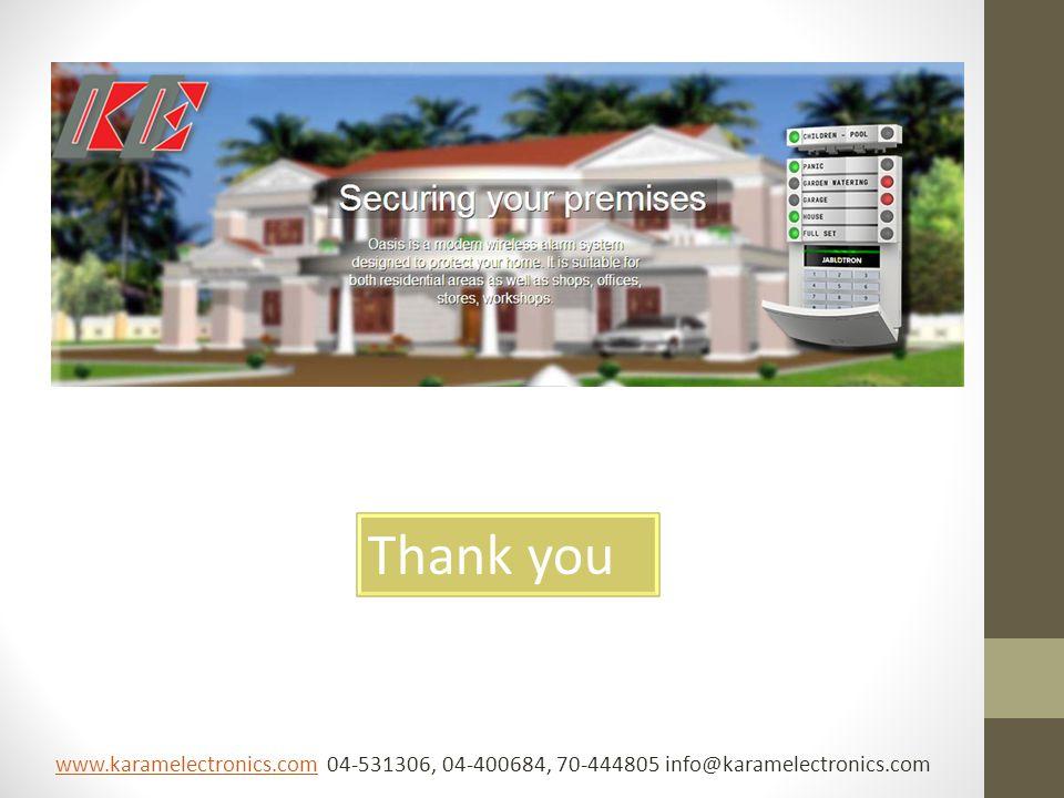 Thank you www.karamelectronics.comwww.karamelectronics.com 04-531306, 04-400684, 70-444805 info@karamelectronics.com