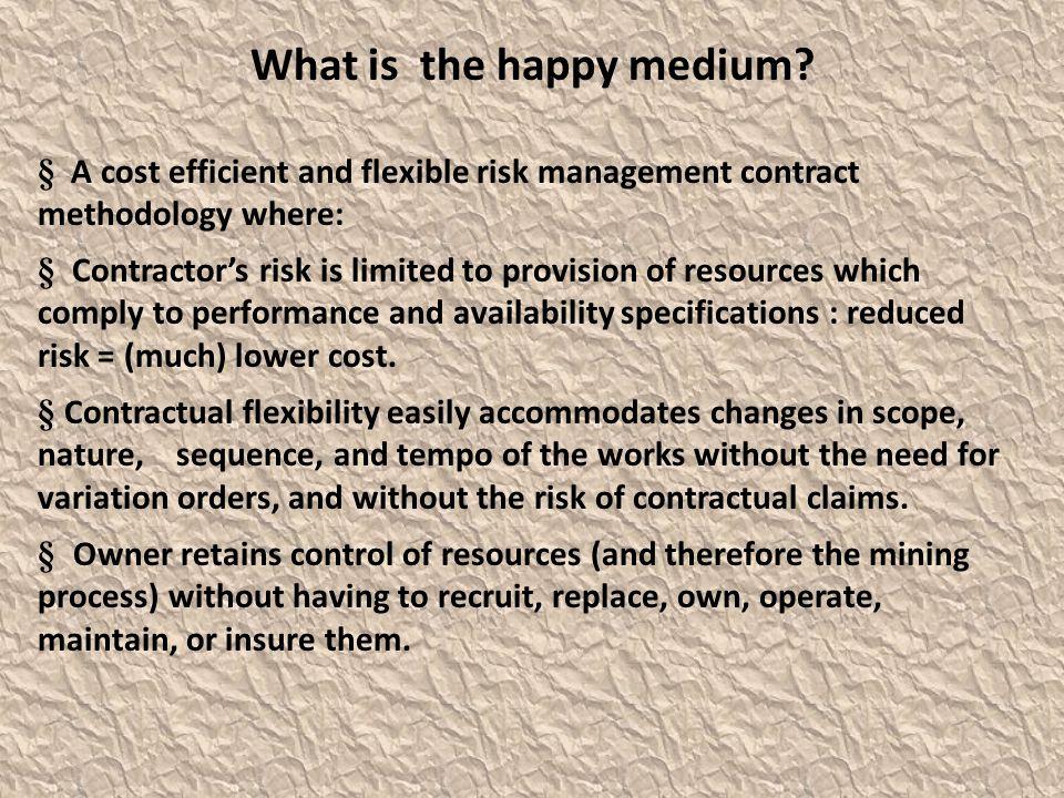 What is the happy medium.