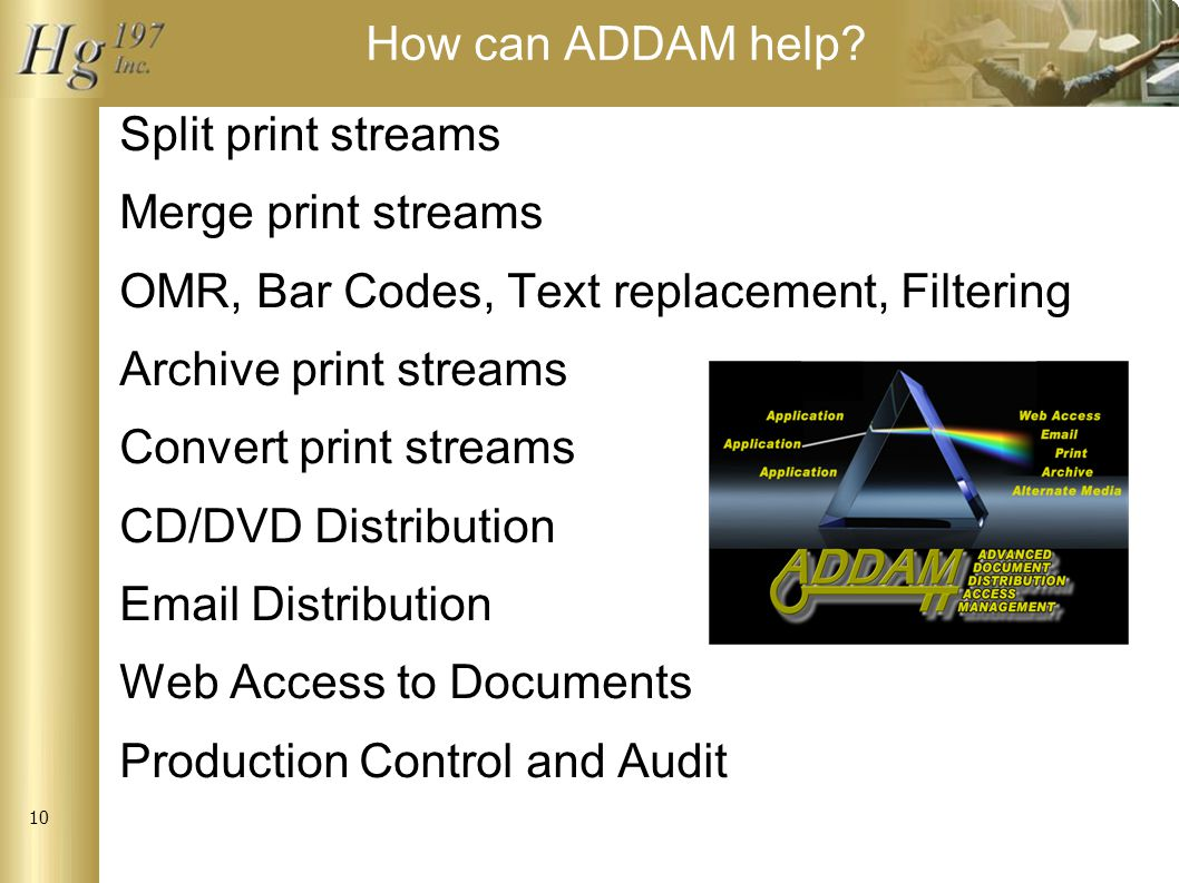 10 How can ADDAM help.