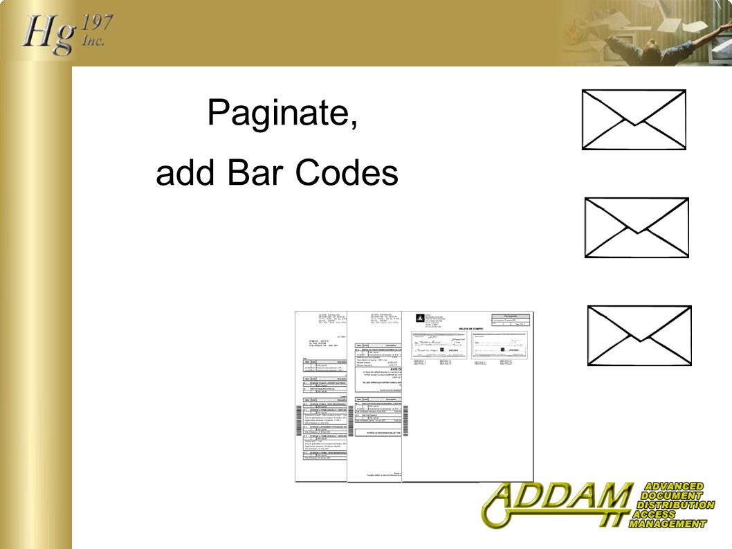 Paginate, add Bar Codes