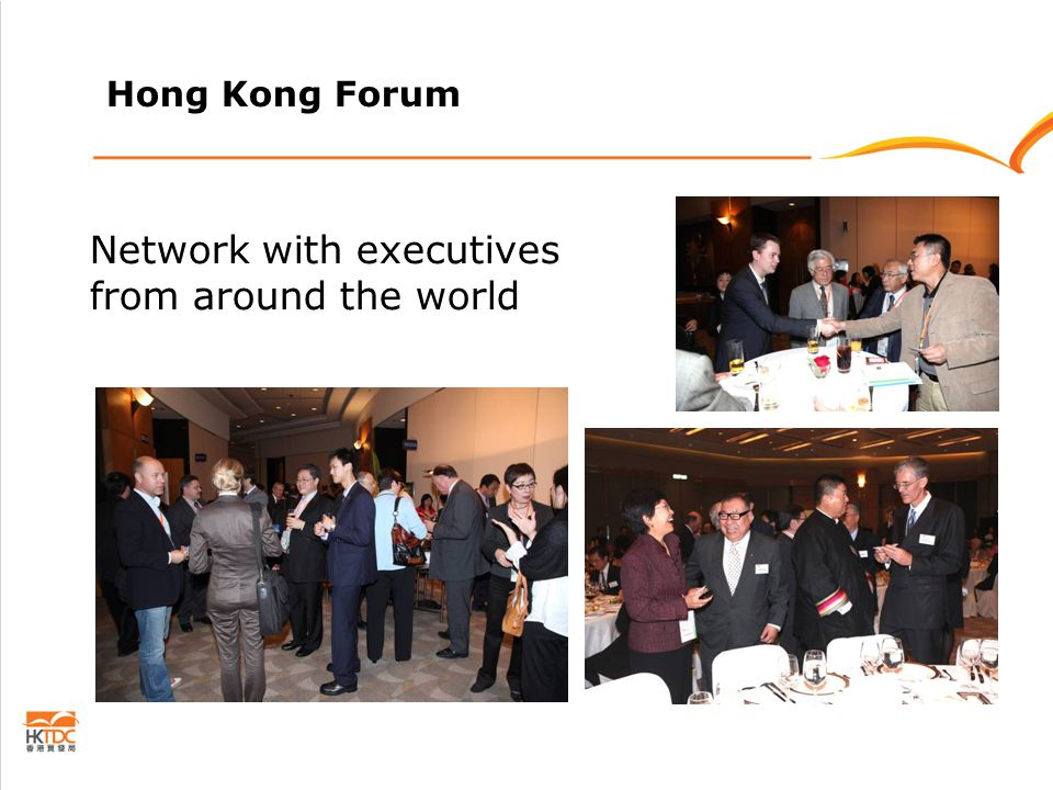 Hong Kong Forum Network with executives from around the world
