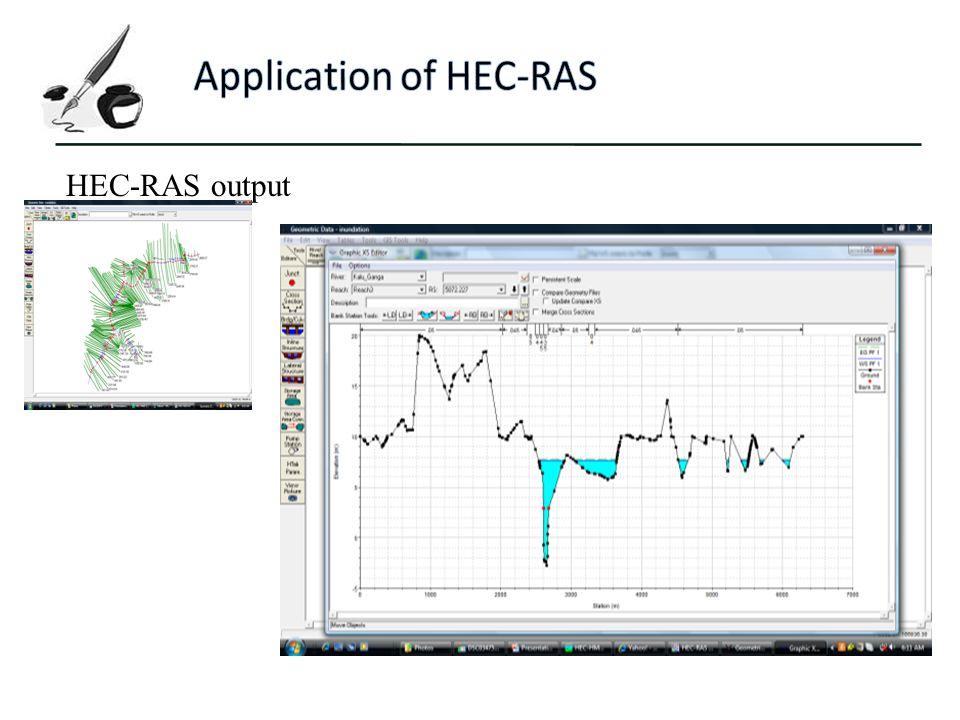HEC-RAS output