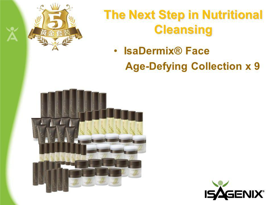 The Next Step in Nutritional Cleansing 5 IsaDermix® Face Age-Defying Collection x 9