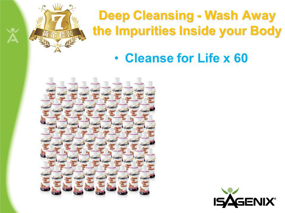 Deep Cleansing - Wash Away the Impurities Inside your Body 7 Cleanse for Life x 60