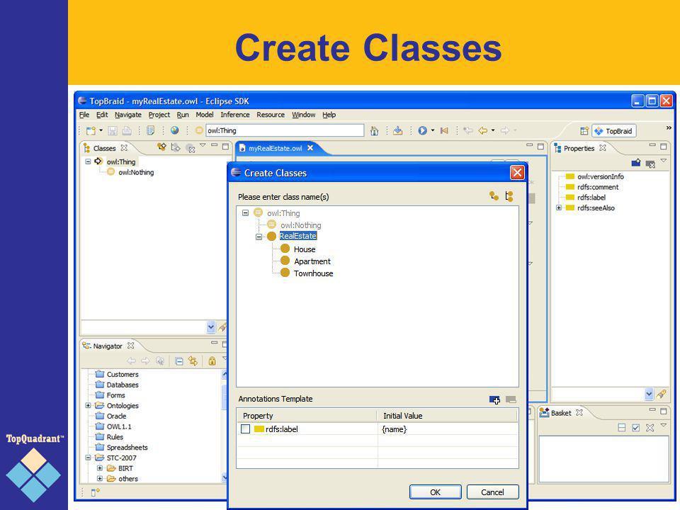 Create Classes