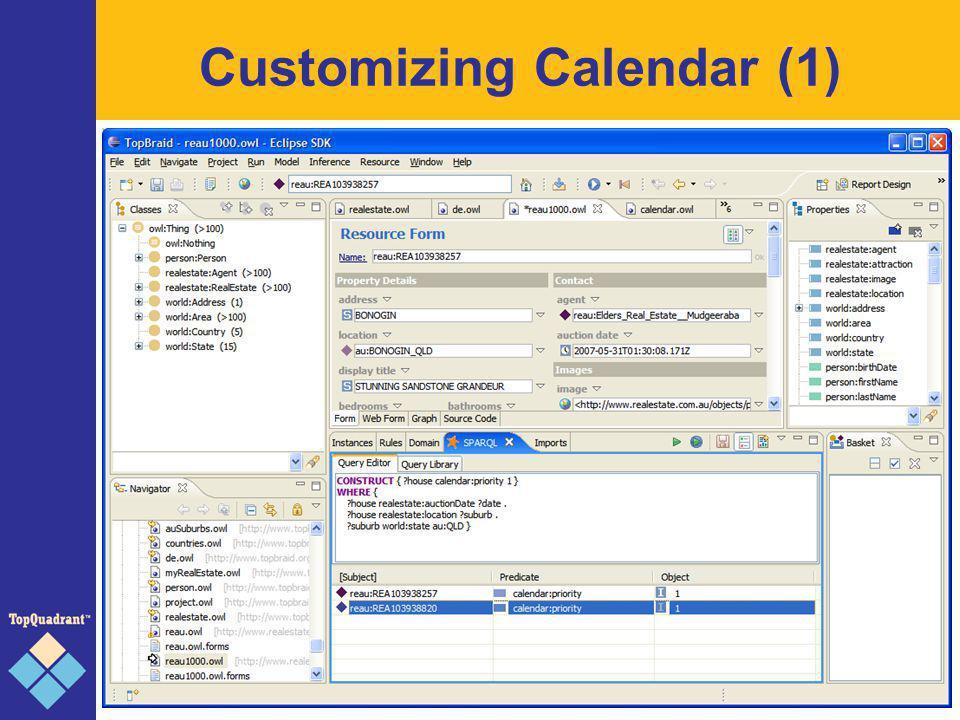 Customizing Calendar (2)
