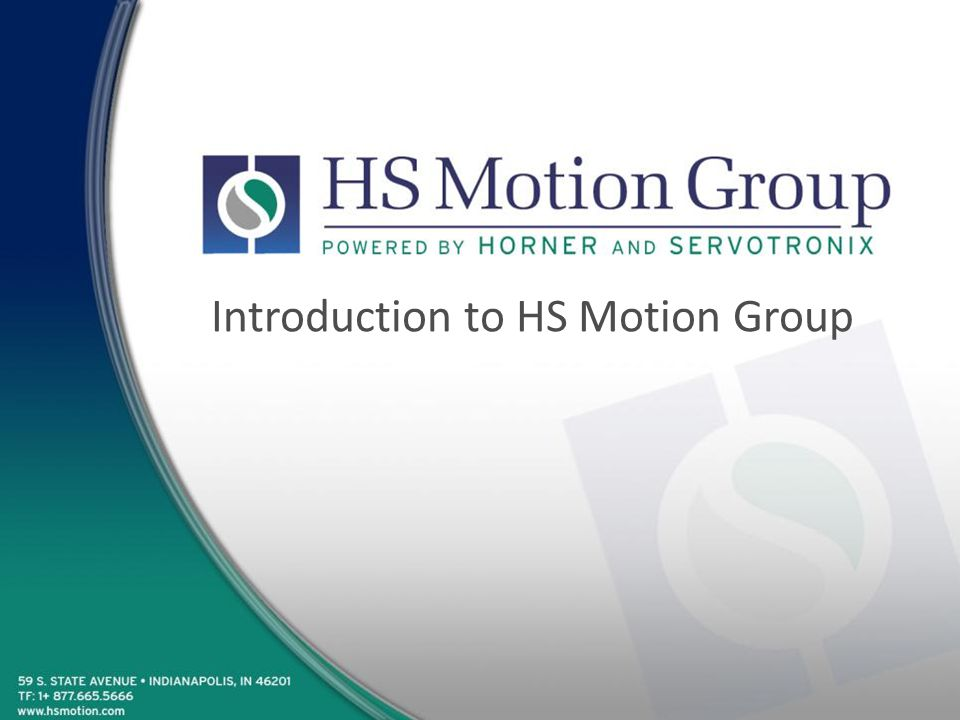 Introduction to HS Motion Group