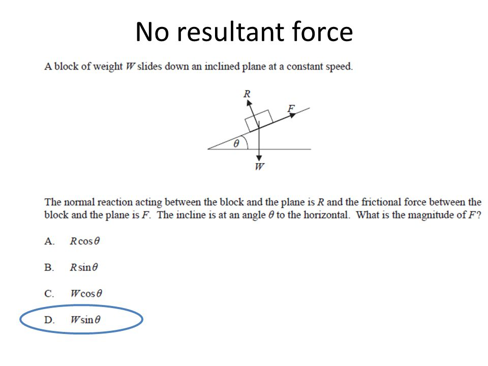 No resultant force