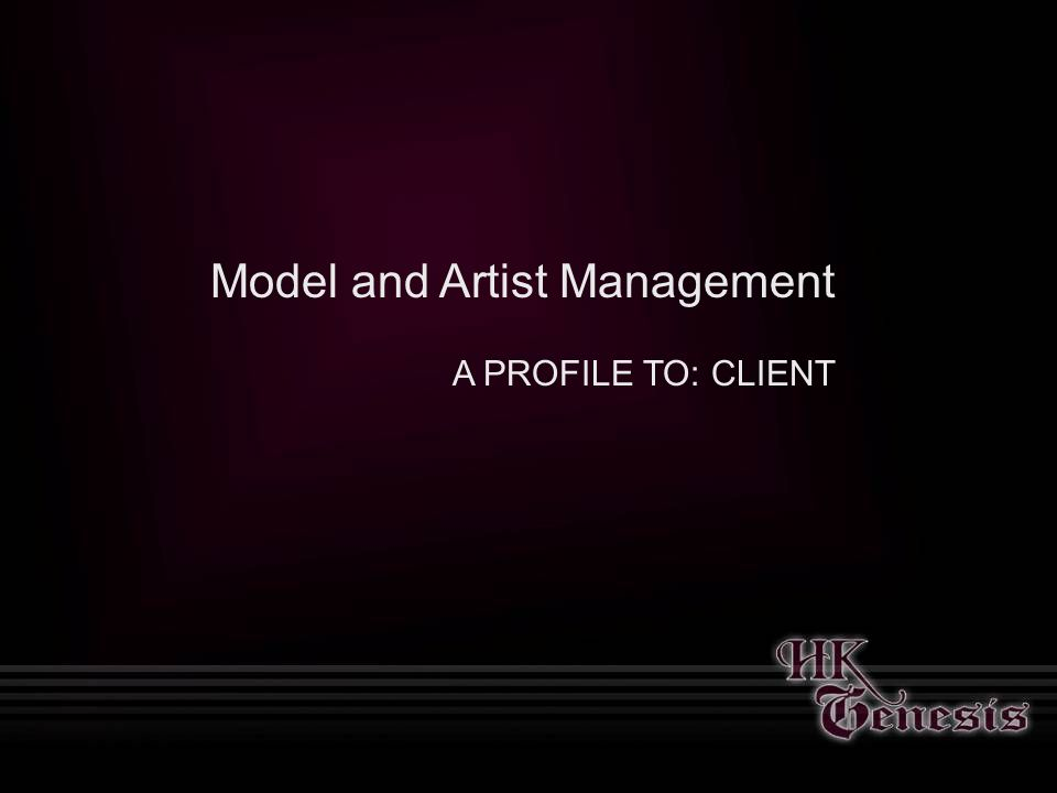 About Us Founded in 2003, HK Genesis is an innovative and cutting edge modeling agency providing models for companies across multiple verticals.