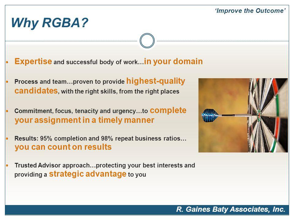 Why RGBA R. Gaines Baty Associates, Inc. 'Improve the Outcome'