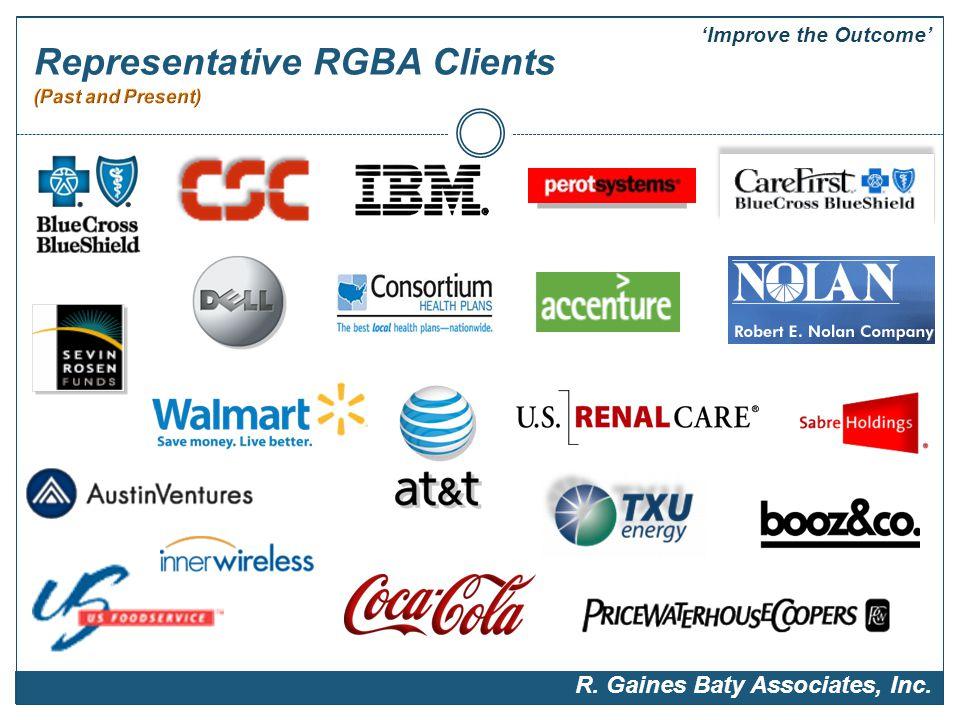 Representative RGBA Clients 'Improve the Outcome' R. Gaines Baty Associates, Inc.
