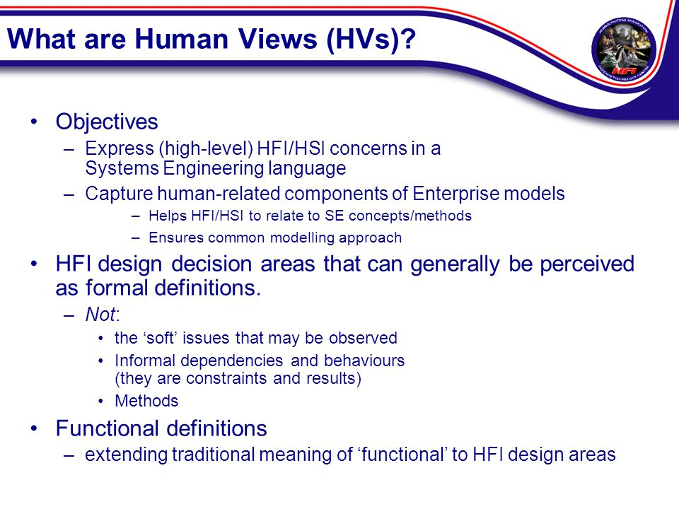 What are Human Views (HVs).