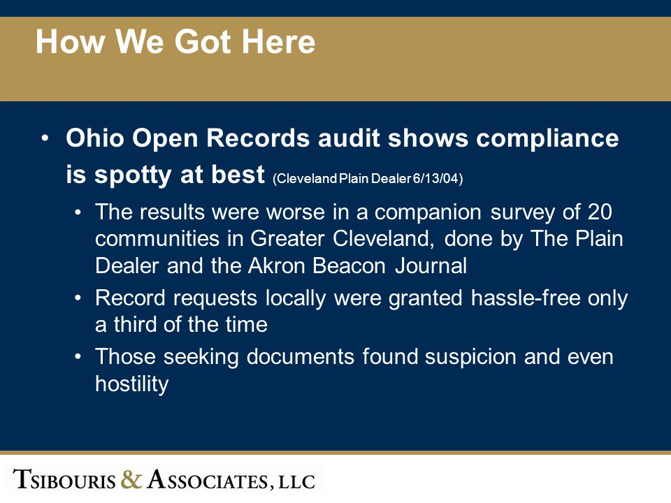 Record includes records documenting the the depletion, expenditure, or depreciation of the resources of the public office, even if unauthorized by that office Public record includes records of governmental entities that get housing subsidies AG must develop public records training HB 9 Bill Summary