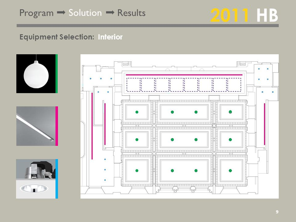 Program Solution Results Equipment Selection: 2011 HB Interior 9