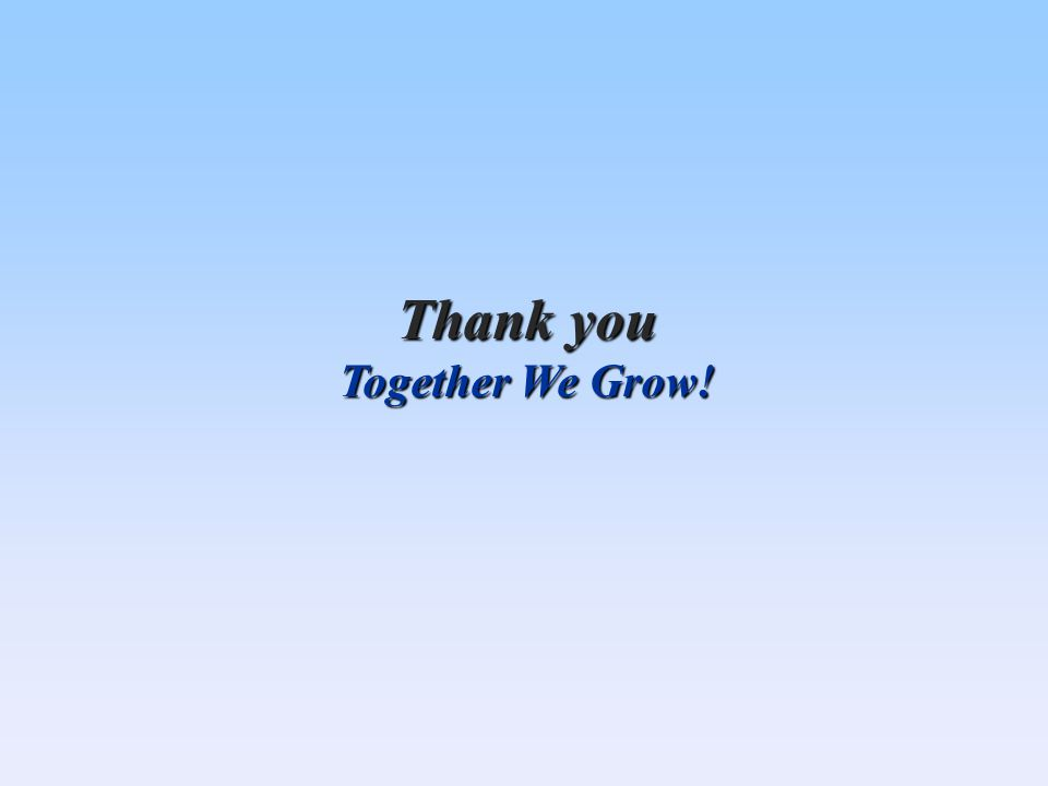 Thank you Together We Grow!