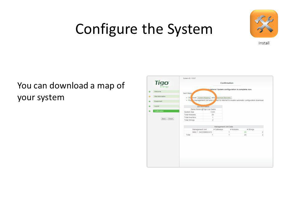 Configure the System Review summary and confirm: Install
