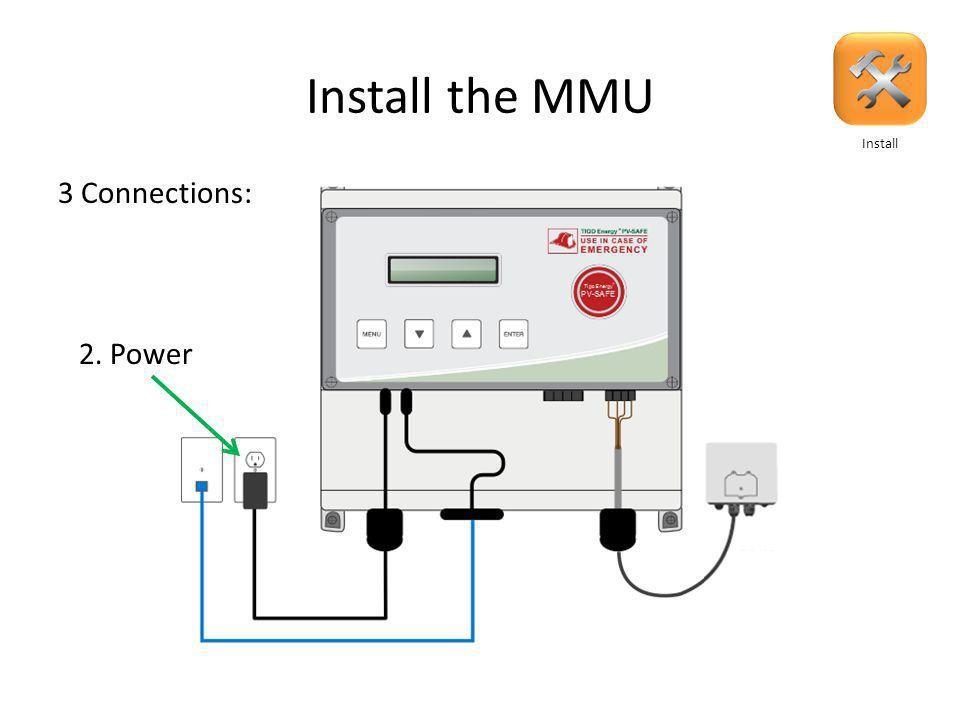 Install the MMU 3 Connections 1. Internet 3 Connections: Install