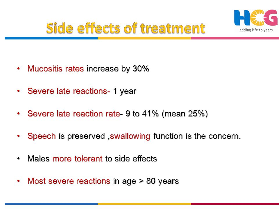 Severe late toxicities (0 to 48%) – 6 mths to yrs.Severe late toxicities (0 to 48%) – 6 mths to yrs.