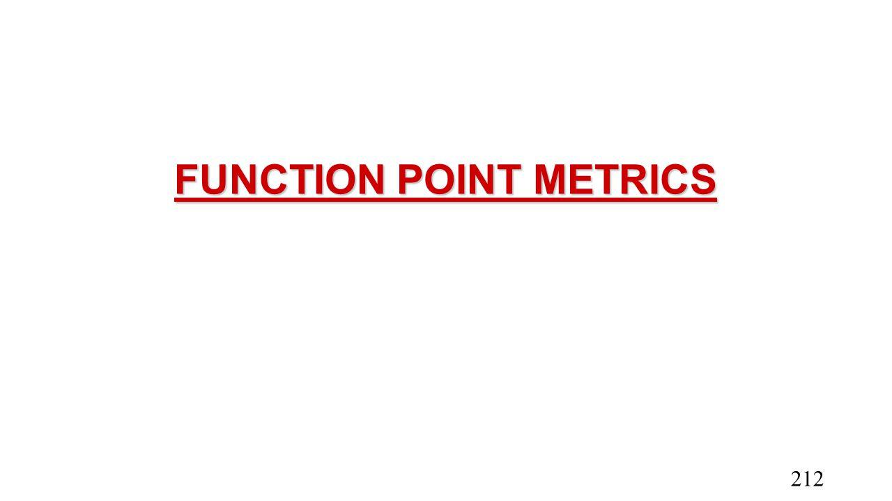 FUNCTION POINT METRICS 212