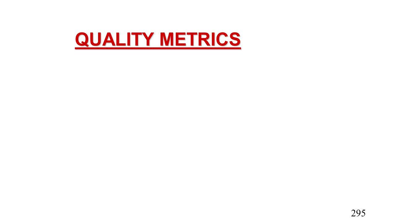 QUALITY METRICS 295