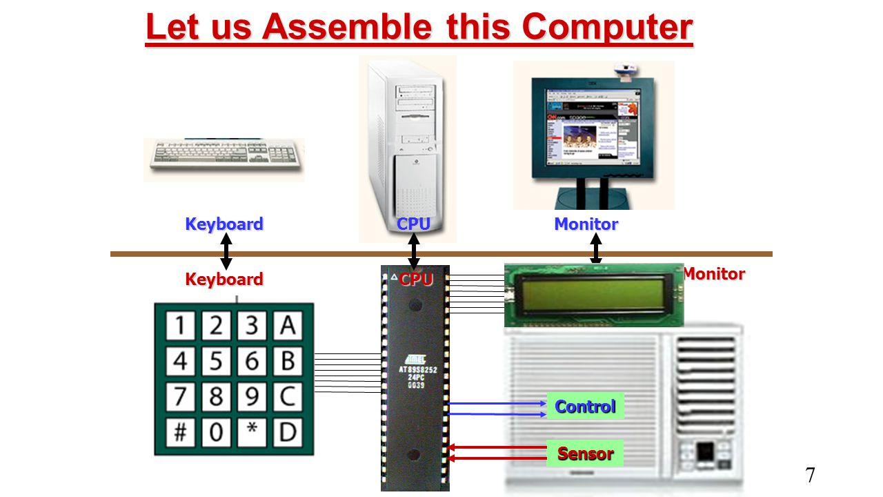 7 KeyboardMonitorCPU Keyboard Monitor CPU Control Sensor