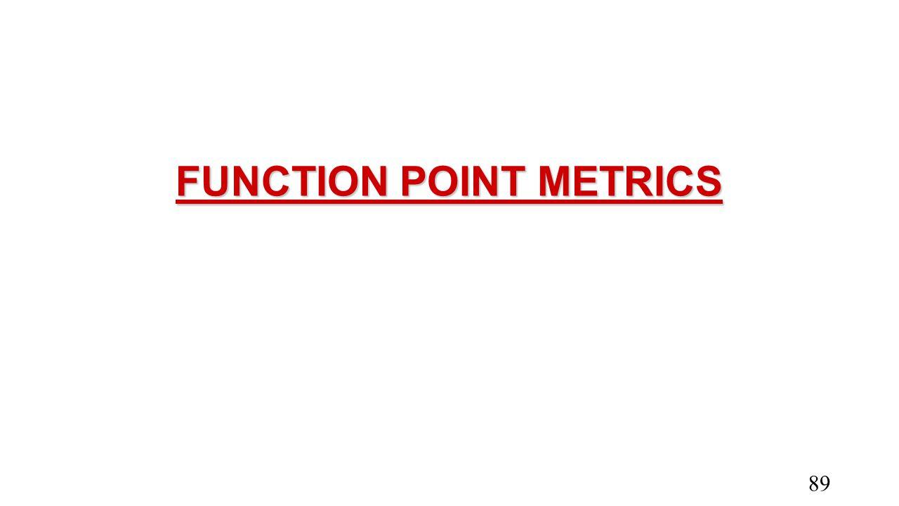 FUNCTION POINT METRICS 89