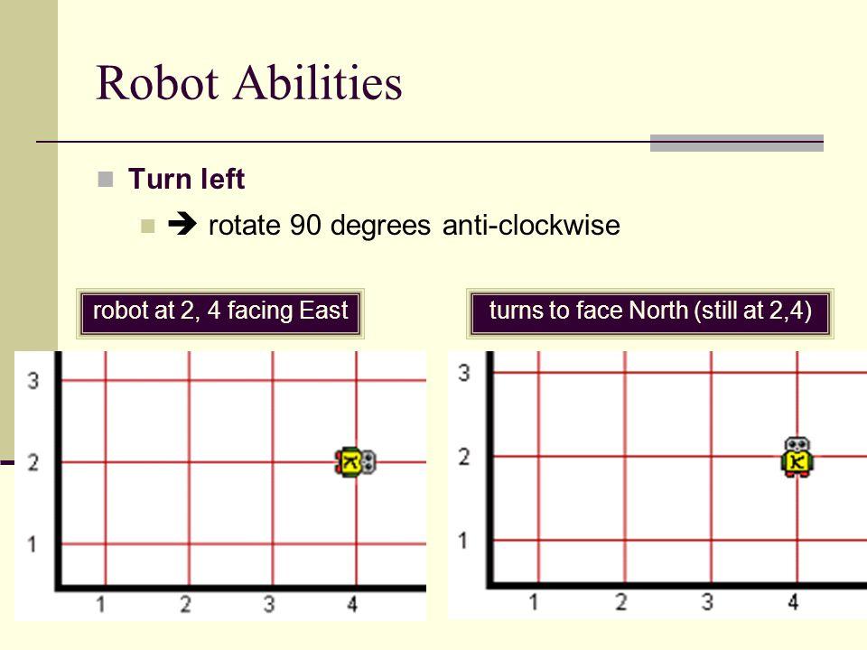 Robot Abilities pick up a beeper put down a beeper Beepers can be picked up or put down at 2, 3