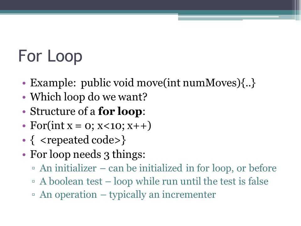 For Loop How many times will each for-loop run.